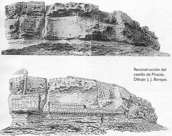 Reconstrucción castillo de Piracés