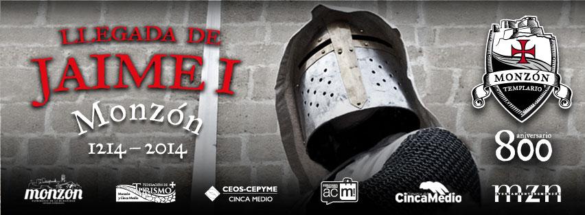 Monzón revive la llegada de Jaime I a su castillo