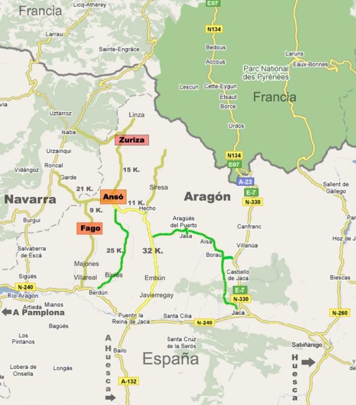 Mapa de Acceso al Valle