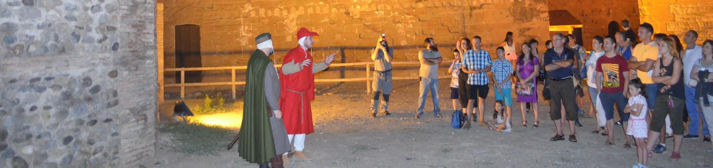 Visitas castillo de Monzón. Foto: José Luis Pano