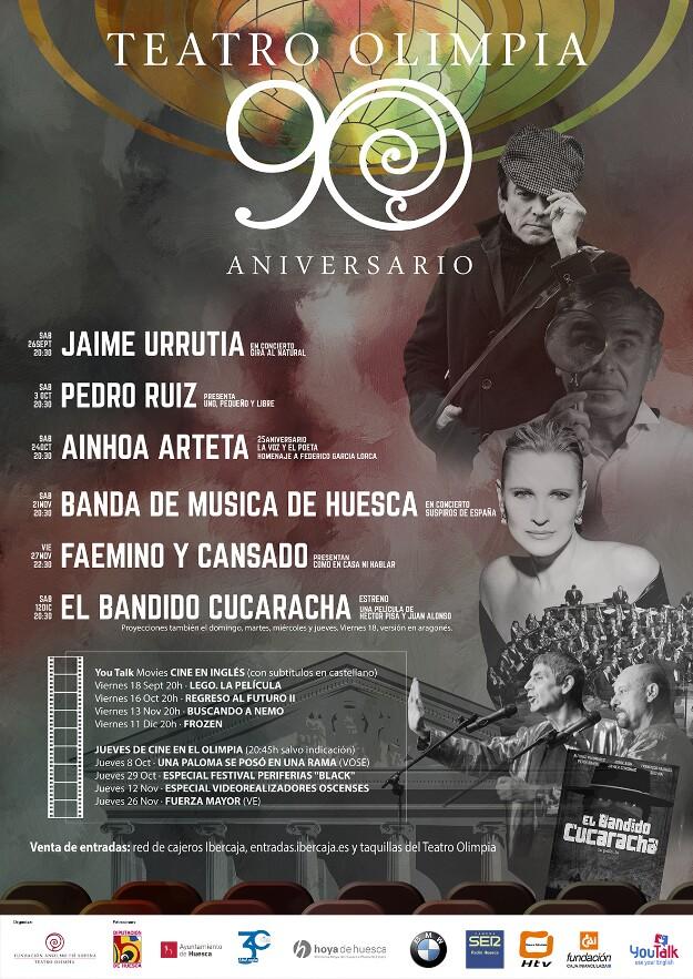 Cartel programación Olimpia 90 años