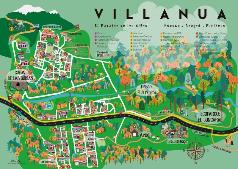 Mapa Villanua actividades