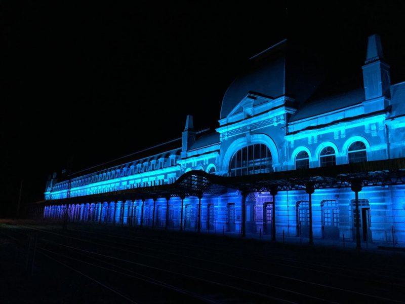 Espectáculode luz en Canfranc de www.nevasport.com