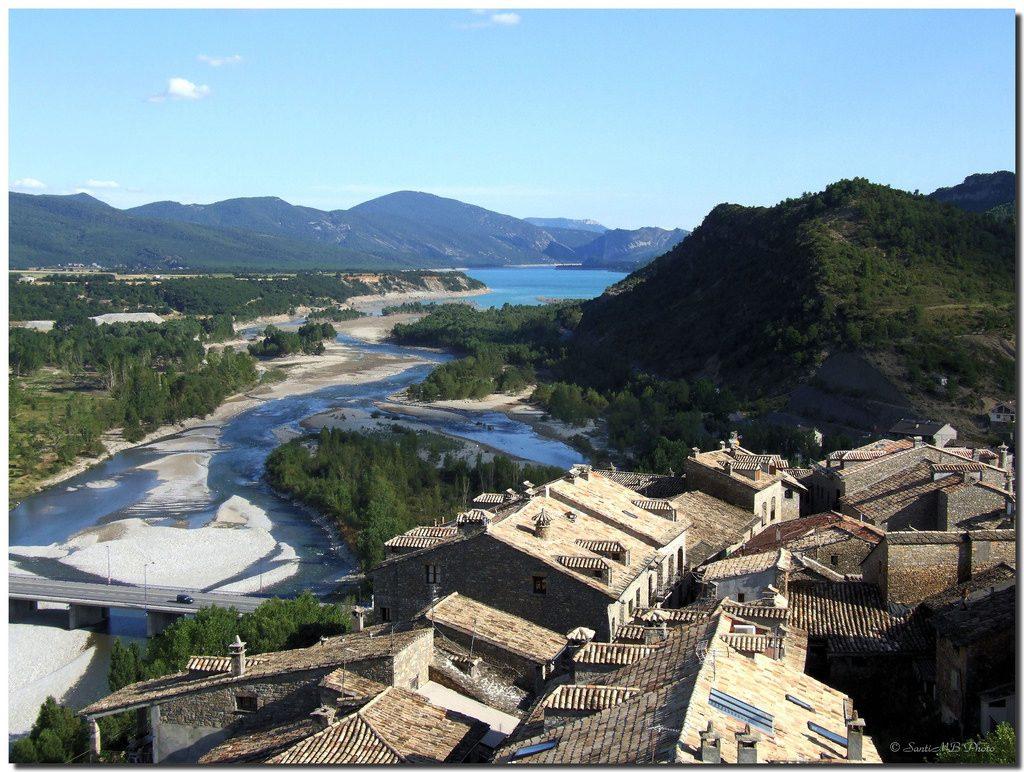 Desembocadura del Río Ara en río Cinca de Santi