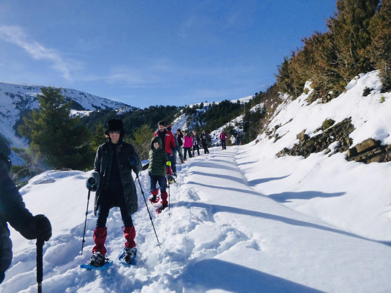 🎿 Raquetas de nieve en familia en Ordesa 💙❄️